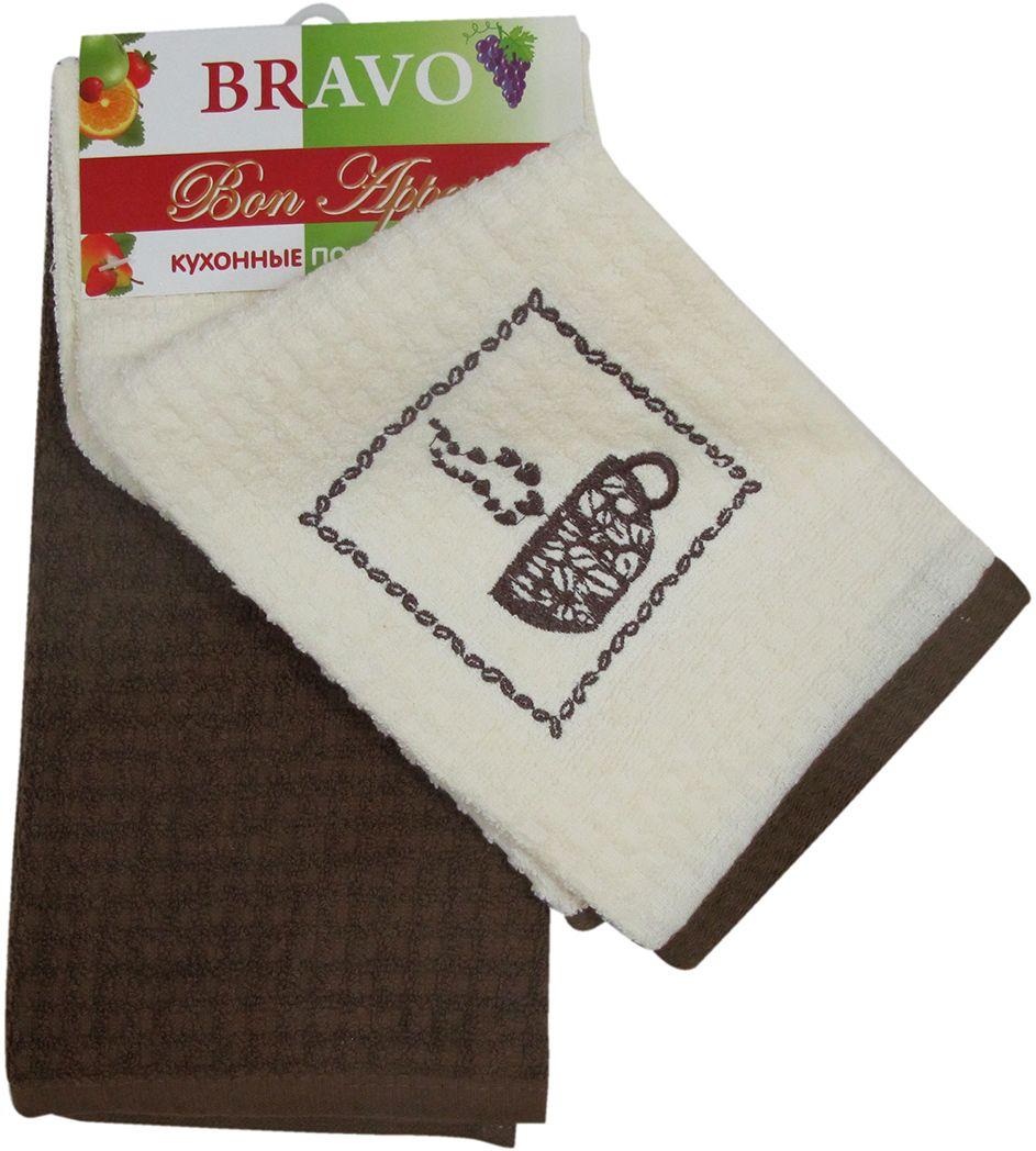 Набор махровых полотенец НВ Бон Аппетит, цвет: коричневый, 40 х 60 см, 2 шт. м0636_0780499