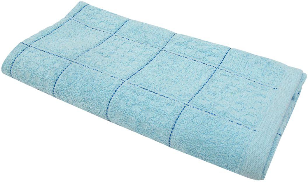 Полотенце махровое НВ Квадро, цвет: синий, 45 х 90 см. м1081_0180819