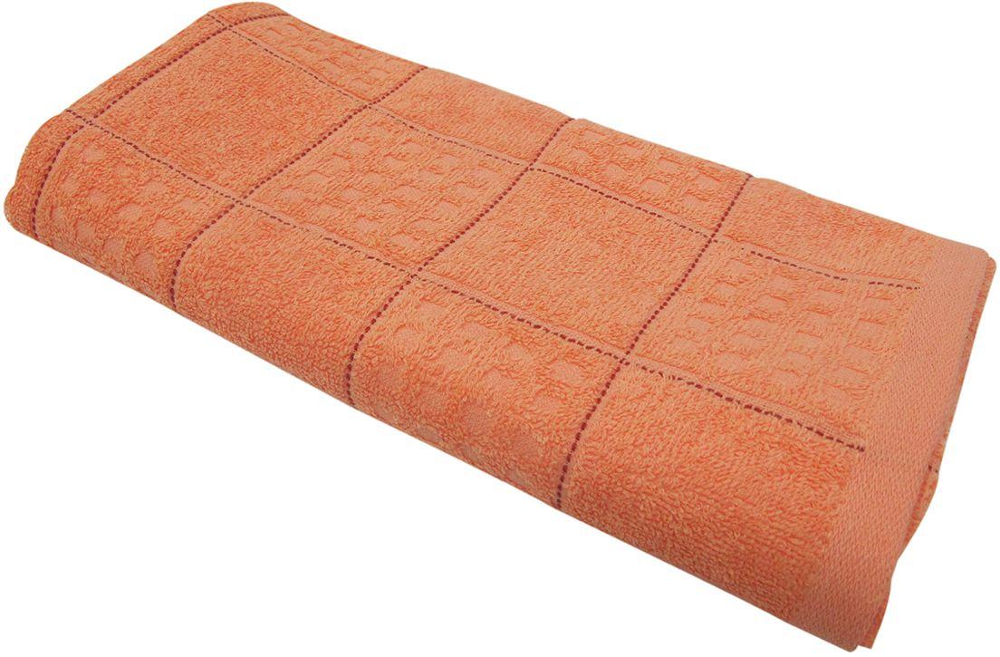 Полотенце махровое НВ Квадро, цвет: персиковый, 45 х 90 см. м1081_1280822