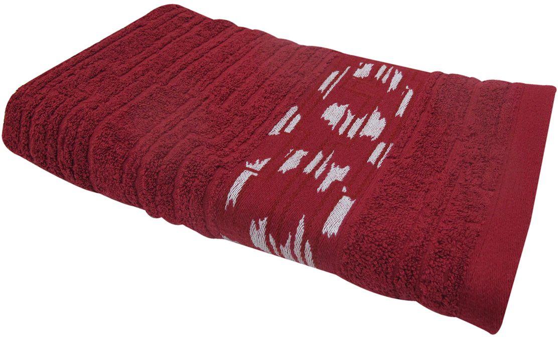 Полотенце махровое НВ Нюанс, цвет: бордовый, 50 х 90 см. м0667_1484573