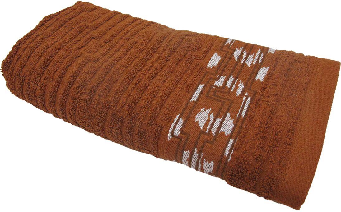 Полотенце махровое НВ Нюанс, цвет: коричневый, 33 х 70 см. м0667_0784581