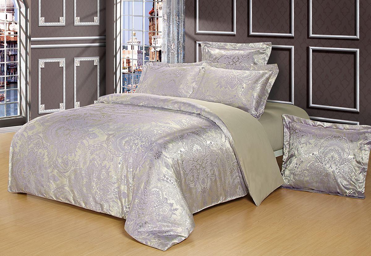Комплект белья Versailles Альбина, 2-спальное, наволочки 50x70, цвет: серый85469Коллекция Versailles относится к продукции класса люкс. Постельное белье из сатина, сотканного из хлопка с добавлением вискозных волокон дарит приятные тактильные ощущения на протяжении всего сна, а уникальные жаккардовые узоры придают танки мягкий блеск и обеспечивают материалу особую прочность. Постельное белье «Versailles» - отличный подарок на любое торжество и идеальный выбор для взыскательных покупателей . Состав: Хлопок 70%, вискоза 30%