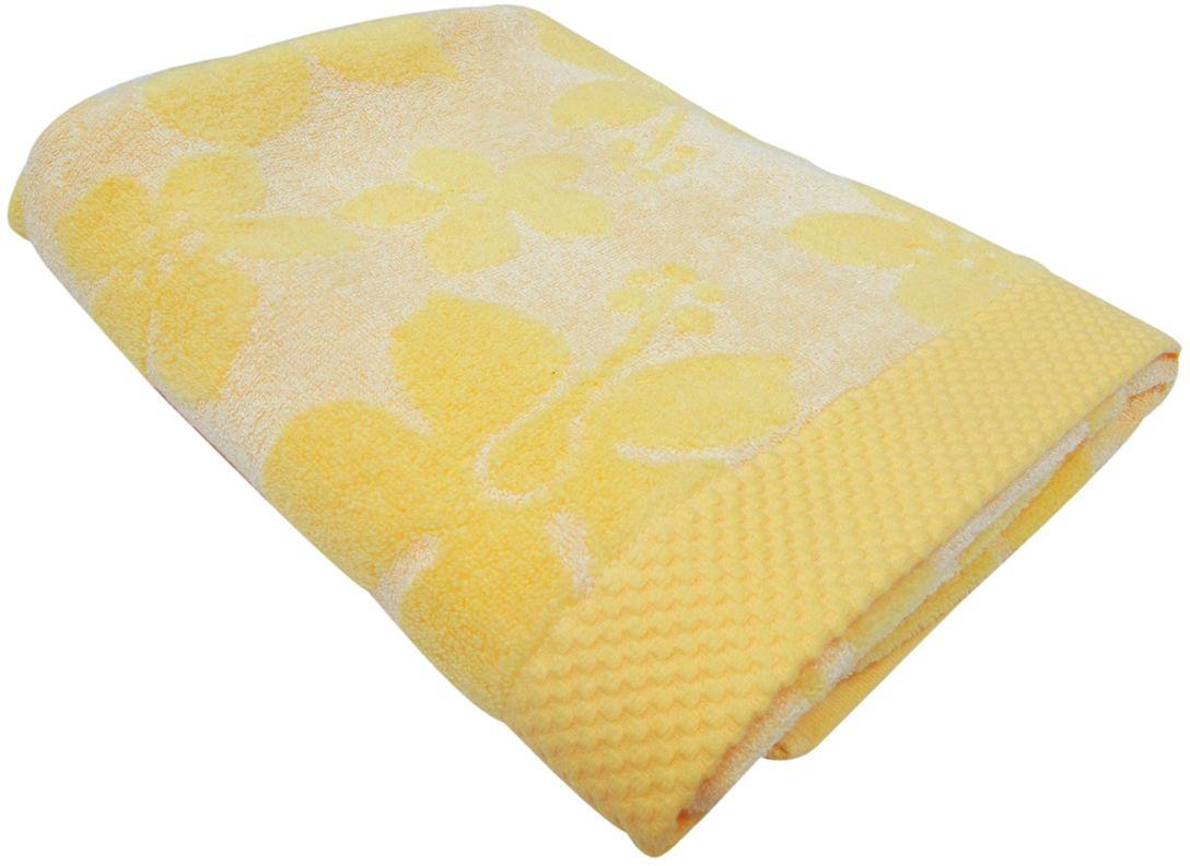 Полотенце махровое НВ Бьянка, цвет: желтый, 70 х 130 см. м0741_0685535