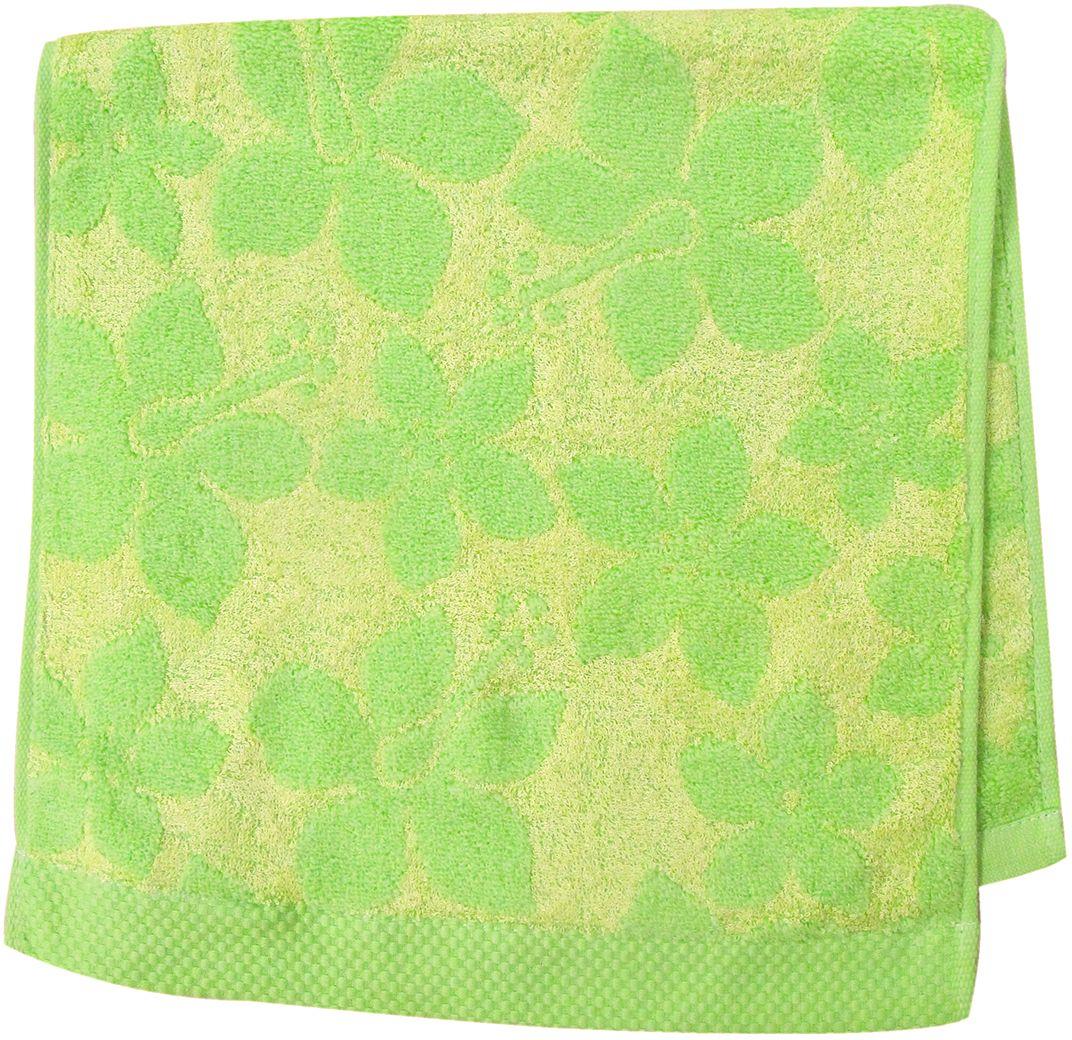 Полотенце махровое НВ Бьянка, цвет: зеленый, 33 х 70 см. м0741_0385540