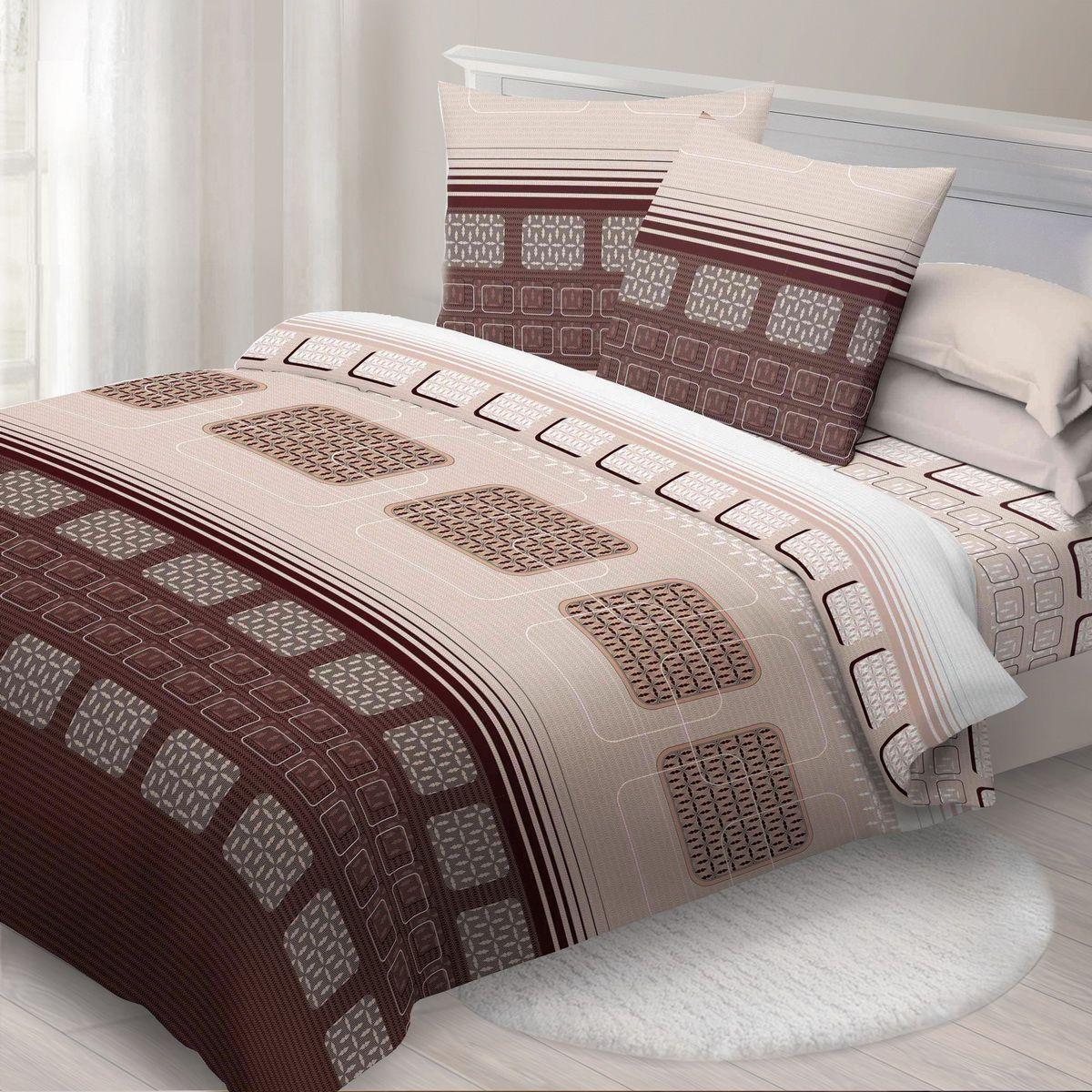 Комплект белья Спал Спалыч Синтез, 1,5-спальное, наволочки 70x70, цвет: коричневый87866Спал Спалыч - недорогое, но качественное постельное белье из белорусской бязи. Актуальные дизайны, авторская упаковка в сочетании с качественными материалами и приемлемой ценой - залог успеха Спал Спалыча! В ассортименте широкая линейка домашнего текстиля для всей семьи - современные дизайны современному покупателю! Ткань обработана по технологии PERFECT WAY - благодаря чему, она становится более гладкой и шелковистой. • Бязь Барановичи 100% хлопок • Плотность ткани - 125 гр/кв.м.