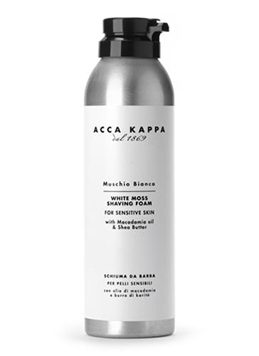 Acca Kappa Пена для бритья Белый Мускус 200 мл853325Пена для бритья с маслом макадамии и маслом ши. Обладает смягчающими и увлажняющими свойствами, которые делают бритье легче.