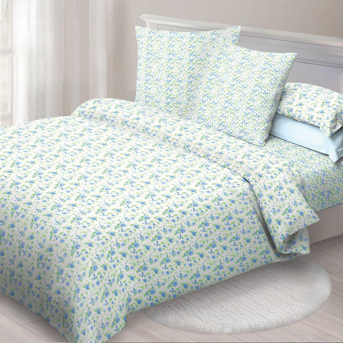 Комплект белья Спал Спалыч Мила, 2-спальное, наволочки 70x70, цвет: голубой90889Спал Спалыч - недорогое, но качественное постельное белье из белорусской бязи. Актуальные дизайны, авторская упаковка в сочетании с качественными материалами и приемлемой ценой - залог успеха Спал Спалыча! В ассортименте широкая линейка домашнего текстиля для всей семьи - современные дизайны современному покупателю! Ткань обработана по технологии PERFECT WAY - благодаря чему, она становится более гладкой и шелковистой. • Бязь Барановичи 100% хлопок • Плотность ткани - 125 гр/кв.м.