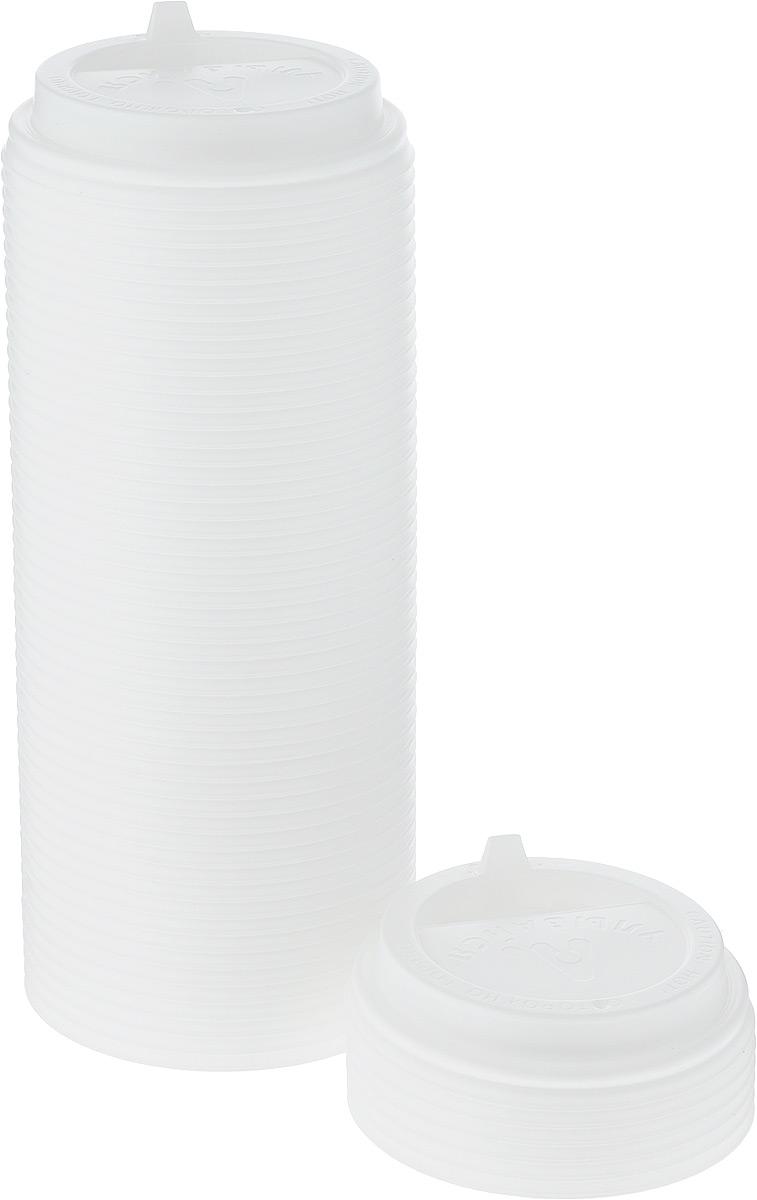 Крышка одноразовая Протэк, с носиком, цвет: белый, диаметр 9 см, 100 шт. ПОС31514ПОС31514Крышка одноразовая Протэк предназначена для пластиковых кружек и стаканчиков. Крышка плотно одевается на стакан и не допускает проливания жидкости. Изделие дополнено удобным носиком, через который можно пить, не снимая крышку со стакана.