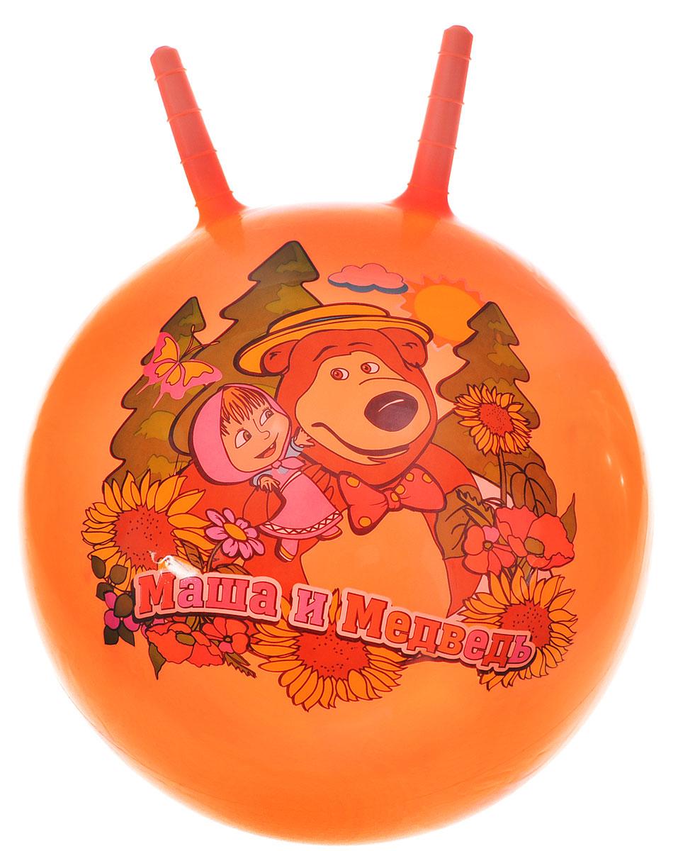 Играем вместе Мяч Маша и Медведь с рожками цвет оранжевый 45 см