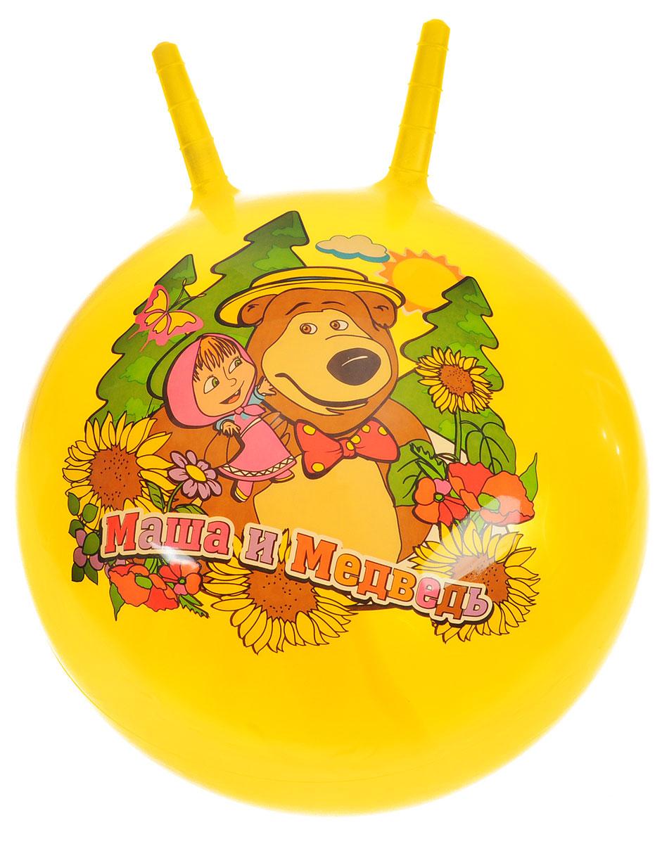 Играем вместе Мяч Маша и Медведь с рожками цвет желтый 45 см SJ-18(MA) (24)_желтый