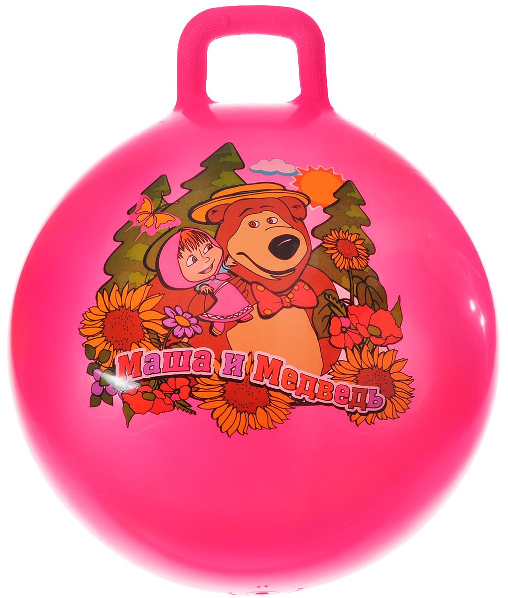 Играем вместе Мяч Маша и Медведь с ручкой цвет розовый 55 см SH-22(MA) (24)