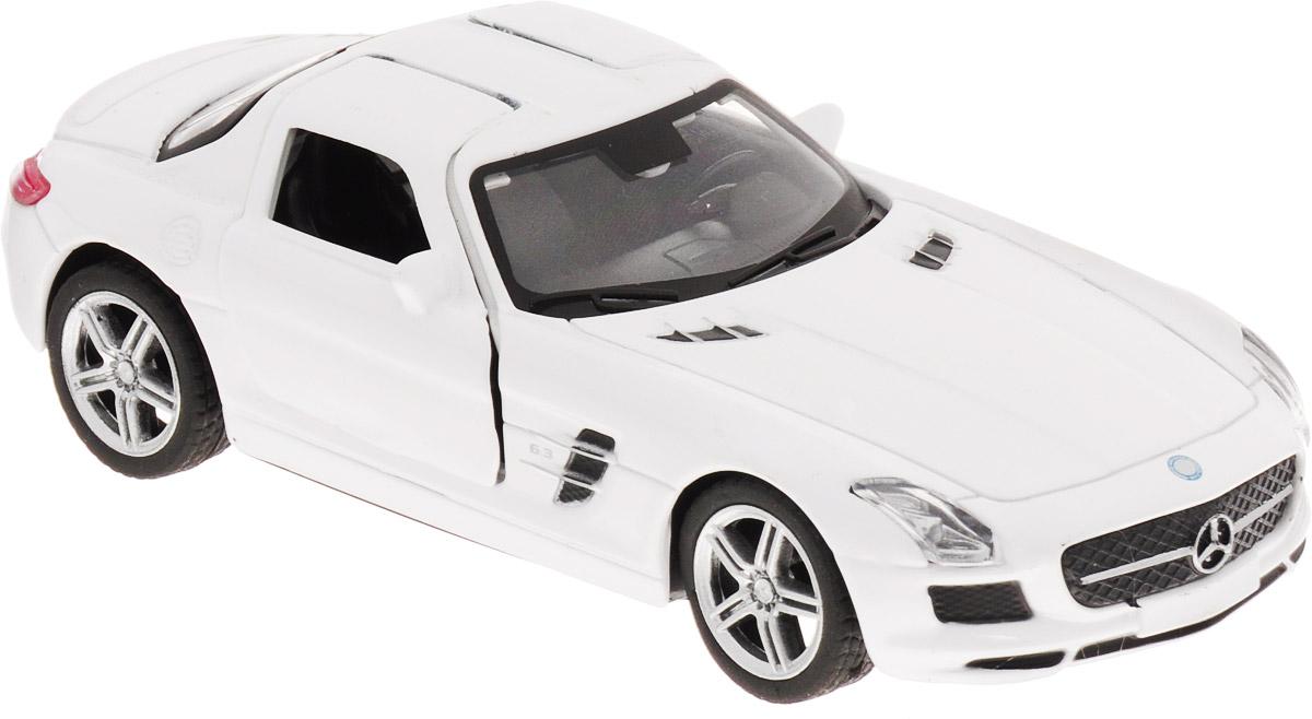 Pitstop Машинка инерционная Mercedes-Benz SLS AMG цвет белый масштаб 1/32 модель автомобиля bburago mercedes amg c coupe dtm масштаб 1 32