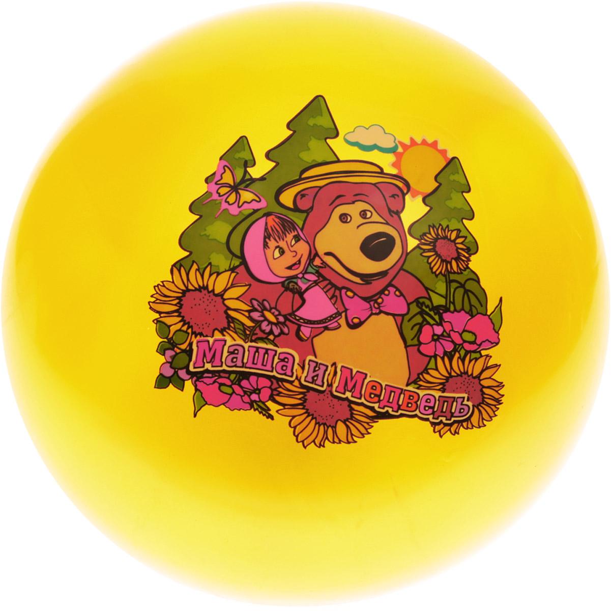 Играем вместе Мяч Маша и Медведь цвет желтый 23 см AD-9(MA)_вид 2