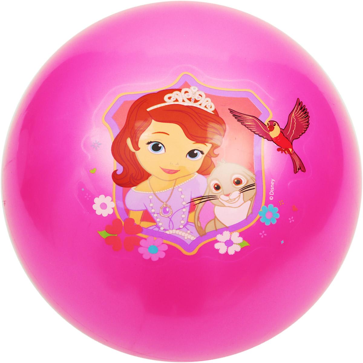 Играем вместе Мяч София Прекрасная цвет розовый 23 см AD-9(STF)_розовый