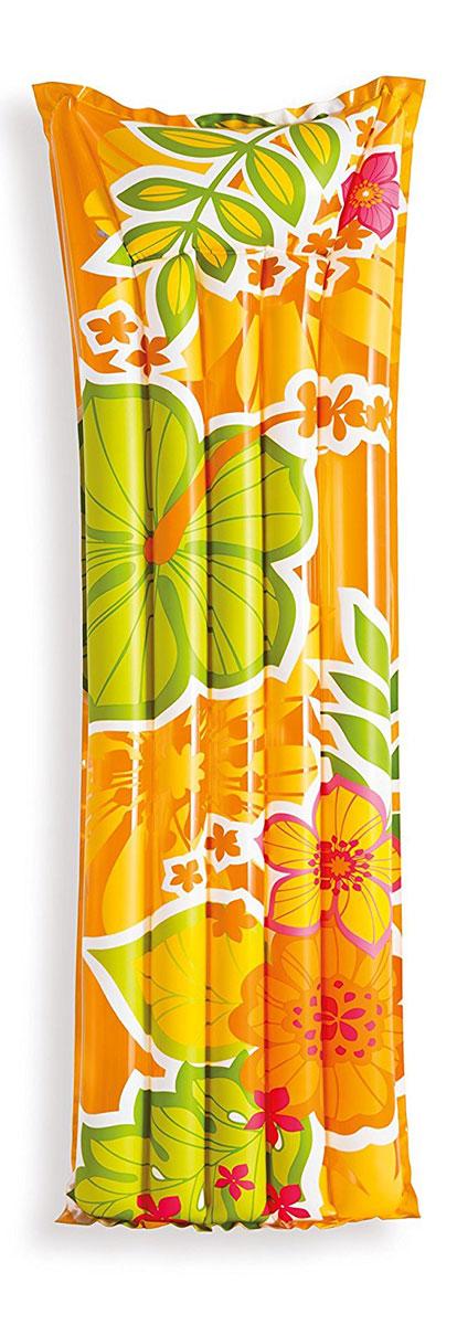 Надувной матрас Intex Красочный, цвет: оранжевый, 183 х 69 см. с59720с59720Надувной матрас Intex с подголовником содержит две воздушные камеры, которые не позволят плавучему средству утонуть даже в том случае, если одна из них спустится. Идеально подходит для отдыха на пляже. Может быть использован как летний спальный матрас. Стильный и яркий дизайн никого не оставит равнодушным. Надувной пляжный матрас - это идеальное решение для отдыха на воде, он подарит радость, удовольствие и комфорт для веселого времяпрепровождения. Насос в комплект не входит.