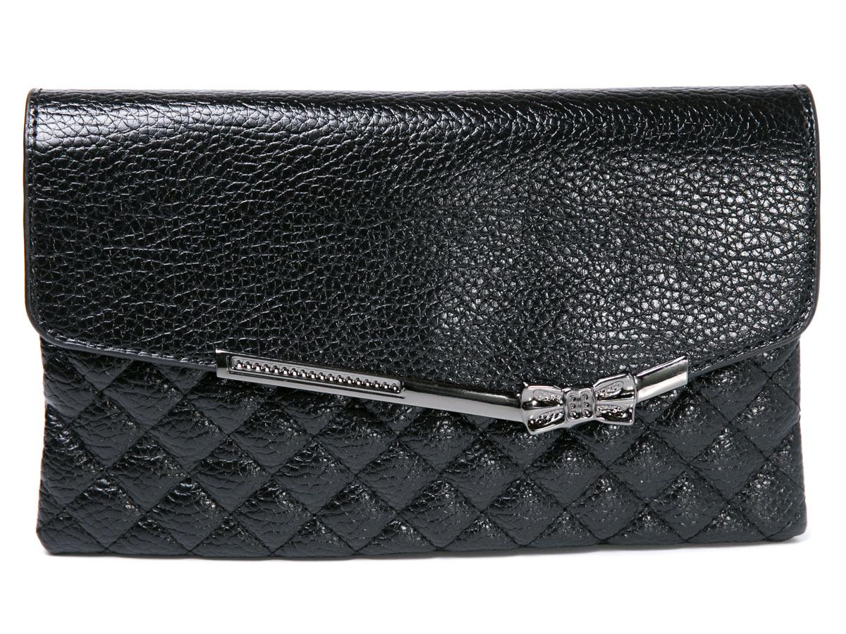 Клатч женский Mitya Veselkov, цвет: черный. LADYBAG5-17LADYBAG5-17Прекрасный ультрамодный клатч, закрывается на удобную защелку, внутри 3 отделения. Можно использовать как сумку, в комплекте для этого есть ремешок. Размеры: 23 x 14 см.