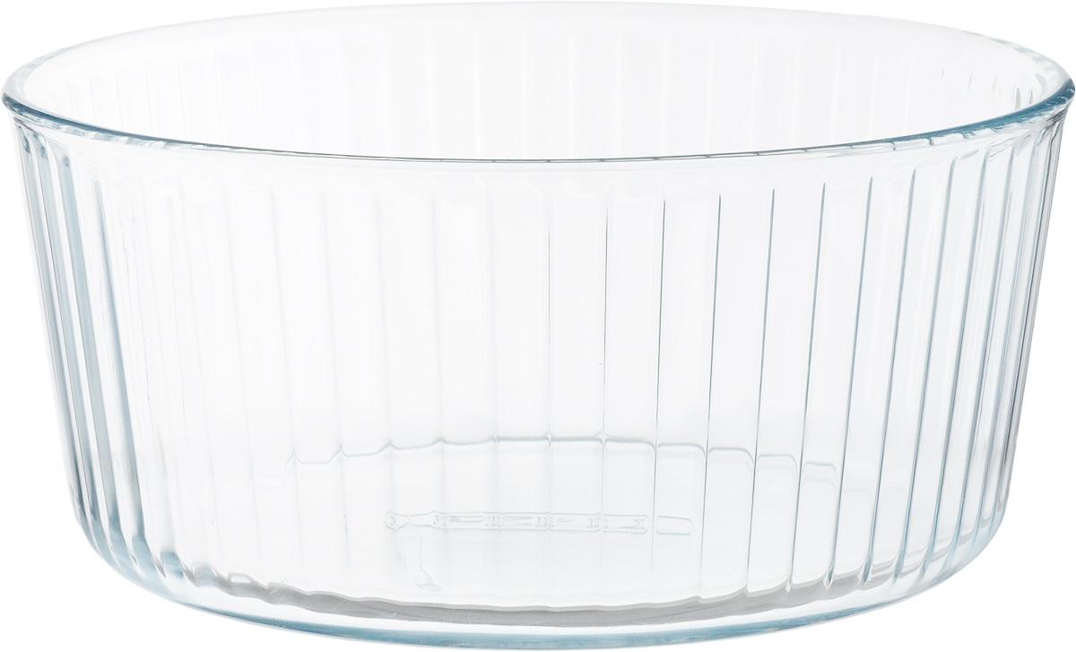 Форма для запекания Pyrex, круглая, диаметр 21 см833B000Форма для запекания Pyrex изготовлена из прозрачного жаропрочного стекла. Непористая поверхность исключает образование бактерий, великолепно моется. Изделие идеально подходит для приготовления в духовом шкафу. Выдерживает перепад температур от -40°C до +300°C. Форма подходит для использования в микроволновой печи, приготовления блюд в духовке, хранения пищи в холодильнике. Можно мыть в посудомоечной машине. Диаметр формы (по верхнему краю): 21 см. Высота формы: 10 см.