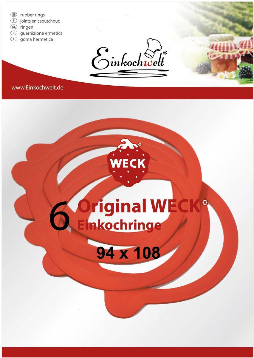 Набор резиновых прокладок Einkochwelt, 9,4 х 10,8 см, 6 шт346876Набор состоит из шести резиновых прокладок для банок со стеклянными крышками соответствующего диаметра горлышка. Они предназначены для закупорки различных домашних заготовок и обеспечивают герметичность емкости, надежно сохраняя качество содержимого продукта.