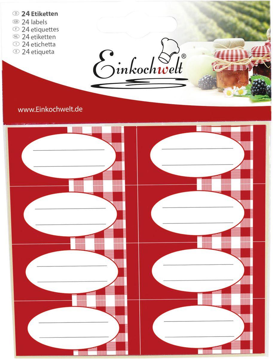 Набор этикеток Einkochwelt, 5,4 х 2,5 см, 24 шт346890Этикетки на банки и бутылки станут прекрасным украшением ваших домашних заготовок и других продуктов. Вы никогда не забудете состав и дату изготовления продукта.