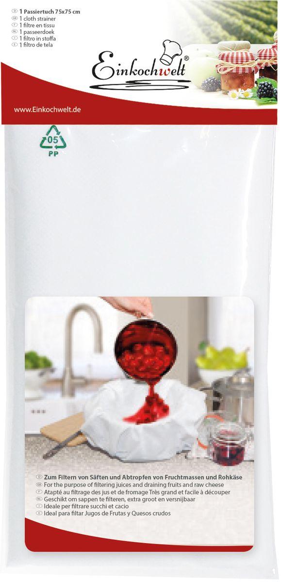 Фильтр тканевый Einkochwelt, 7,5 х 7,5 см346913Тканевый фильтр станет вашим помощником при переливании различных жидкостей, не позволяя инородным веществам попадать в готовые продукты.