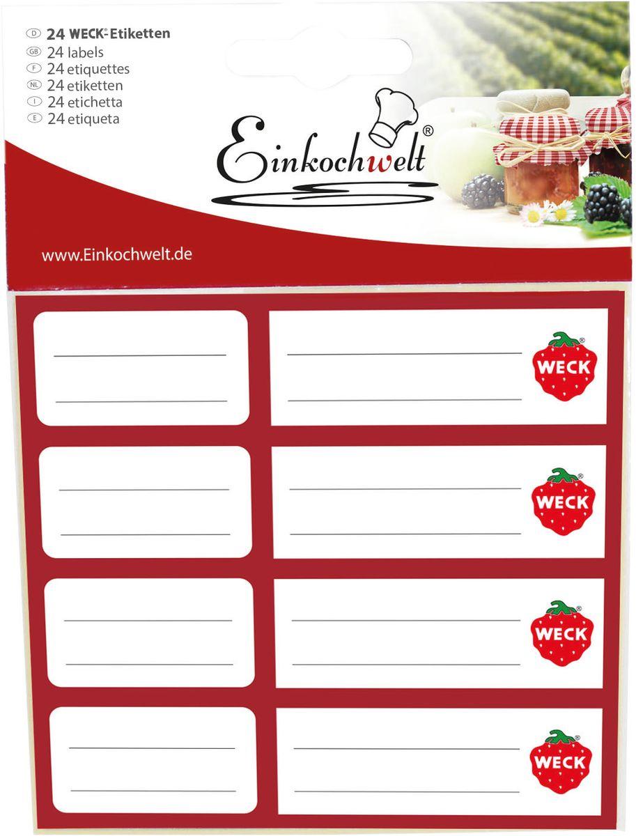 Набор этикеток Einkochwelt, 5 х 6 см, 24 шт346920Этикетки на банки и бутылки станут прекрасным украшением ваших домашних заготовок и других продуктов. Вы никогда не забудете состав и дату изготовления продукта.
