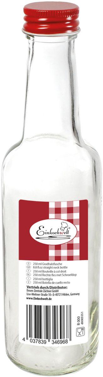 Бутылка Einkochwelt, с крышкой, 250 мл346968Стеклянная бутылка объемом 250 мл с завинчивающейся крышкой предназначена для хранения, сиропов и других домашних напитков. Такая крышка обеспечит легкость использования и герметичность сосуда, что надежно сохранит свежесть и качество вашего продукта. Оригинальная форма бутылки позволит ей стать не только полезным изделием, но и украшением интерьера вашей кухни.