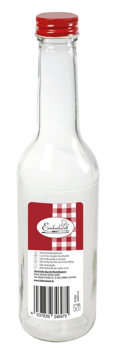Бутылка Einkochwelt, с крышкой, 350 мл346975Стеклянная бутылка объемом 250 мл с завинчивающейся крышкой предназначена для хранения, сиропов и других домашних напитков. Такая крышка обеспечит легкость использования и герметичность сосуда, что надежно сохранит свежесть и качество вашего продукта. Оригинальная форма бутылки позволит ей стать не только полезным изделием, но и украшением интерьера вашей кухни.