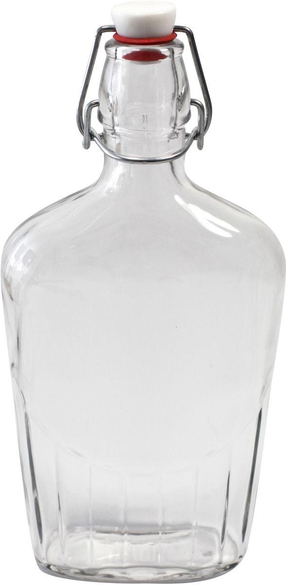 Бутылка Einkochwelt, с крышкой, 500 мл358206Стеклянная бутылка объемом 500 мл с пробкой и зажимом предназначена для хранения и консервации соков, сиропов и других домашних напитков. Зажим обеспечит герметичность сосуда, что надежно сохранит свежесть и качество вашего продукта. Оригинальная форма бутылки позволит ей стать не только полезным изделием, но и украшением интерьера вашей кухни.