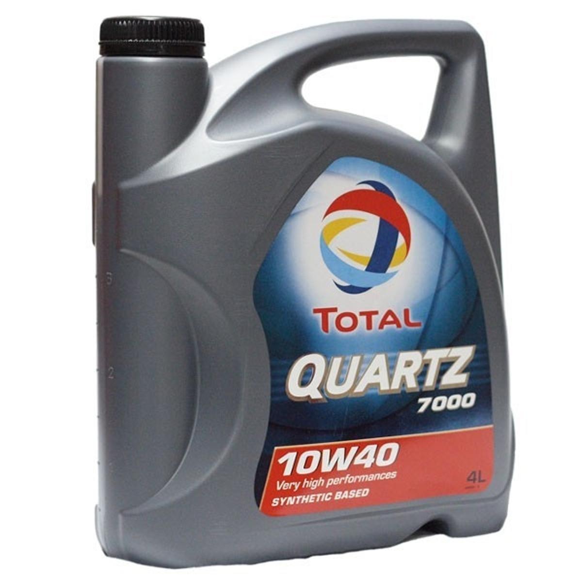 Моторное масло Total Quartz 7000 10W-40, 4 л148593Моторное масло Total Quartz 7000 10w-40 разработано для соответствия требованиям спецификаций бензиновых и дизельных двигателей (легковые и небольшие грузовые автомобили). Рекомендовано для применения в двигателях с турбонаддувом, включая многоклапанные. Масло обеспечивает высокие эксплуатационные свойства в условиях высоких нагрузок при вождении по автостраде и в городе, в любое время года. Total Quartz 7000 10w-40 прекрасно подходит для автомобилей, оснащенных катализаторами и использующих этилированный бензин или сжиженный газ. Использование Total Quartz 7000 10w-40 обеспечивает значительную экономию топлива, подтверждено тестом API SH EC I. Благодаря основе, состоящей из синтетических и высокоочищенных минеральных компонентов, Total Quartz 7000 10w-40 обладает высоким индексом вязкости и превосходной вязкостной стабильностью в эксплуатации. Масло изготовлено по технологии, обеспечивающей сочетание свойств легкотекучести (легкий холодный старт) и вязкости (превосходное смазывание...