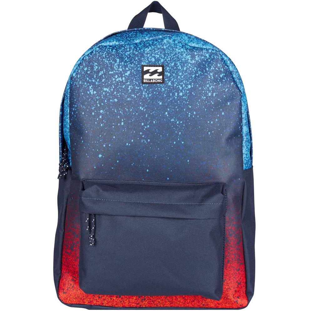 Рюкзак городской Billabong All Day Pack, цвет: синий, красный. 36078693685613607869368561Компактный городской рюкзак, объема которого вполне достаточно для повседневных потребностей. Стильные расцветки сделают этот рюкзак не только полезным аксессуаром, но и замечательным дополнением Вашего образа в целом.
