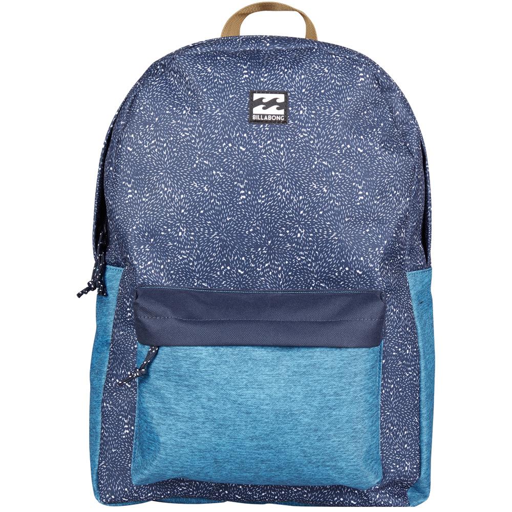 Рюкзак городской Billabong All Day Pack, цвет: синий. 36078693685783607869368578Компактный городской рюкзак, объема которого вполне достаточно для повседневных потребностей. Стильные расцветки сделают этот рюкзак не только полезным аксессуаром, но и замечательным дополнением Вашего образа в целом.
