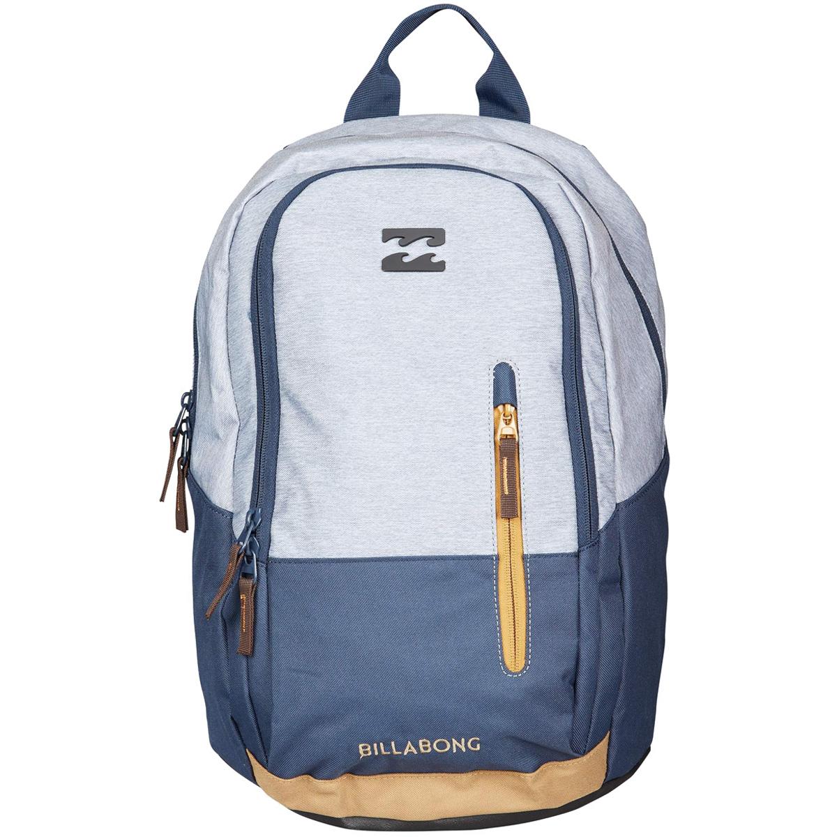 Рюкзак городской Billabong Shadow pack, цвет: серый, синий. 36078693686083607869368608Стильный и удобный рюкзак, компактный и достаточно вместительный. Отделение под ноутбук…