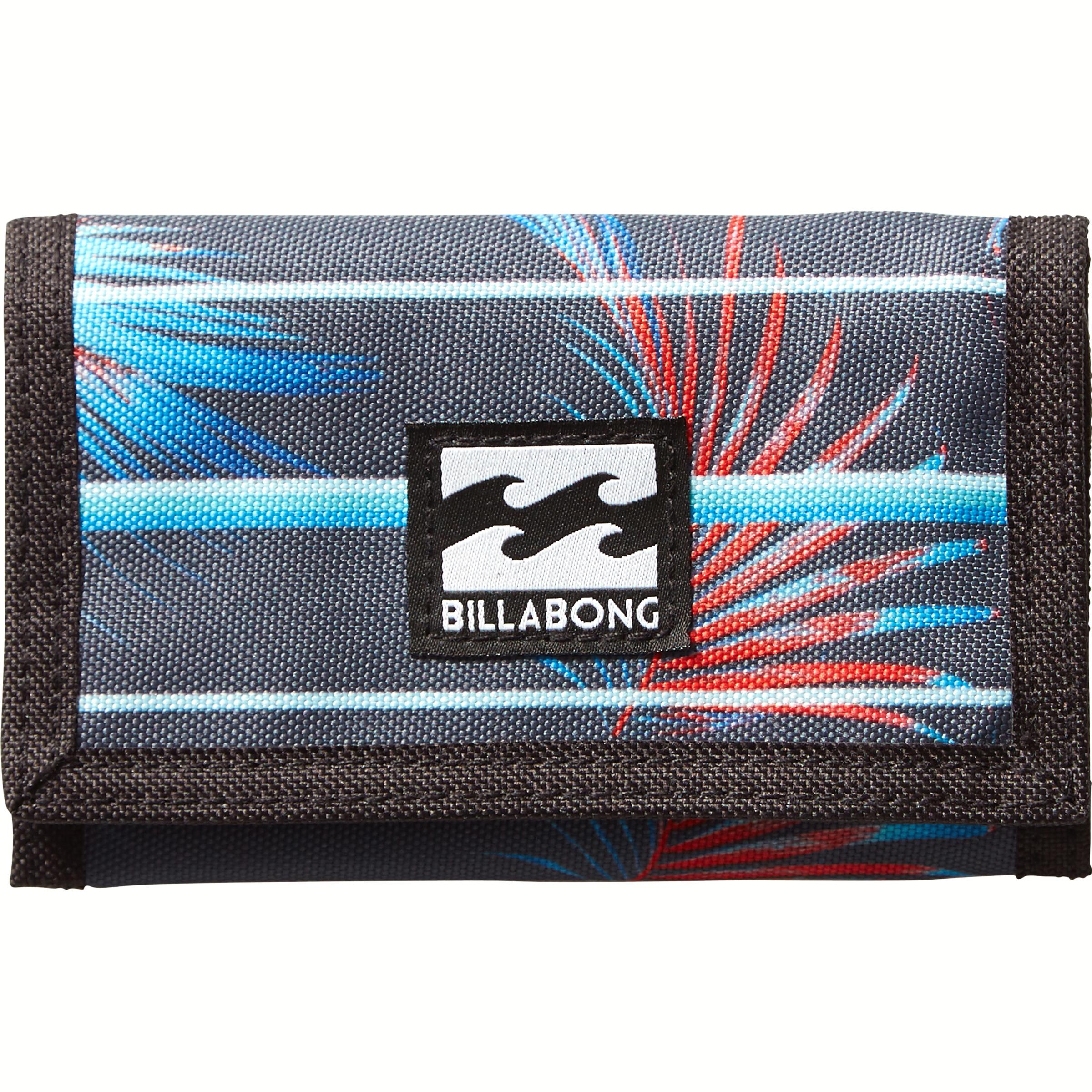 Кошелек Billabong Atom Wallet, цвет: черный, красный, голубой. 36078693694763607869369476Классический тряпичный кошелек с новыми расцветками от Billabong.