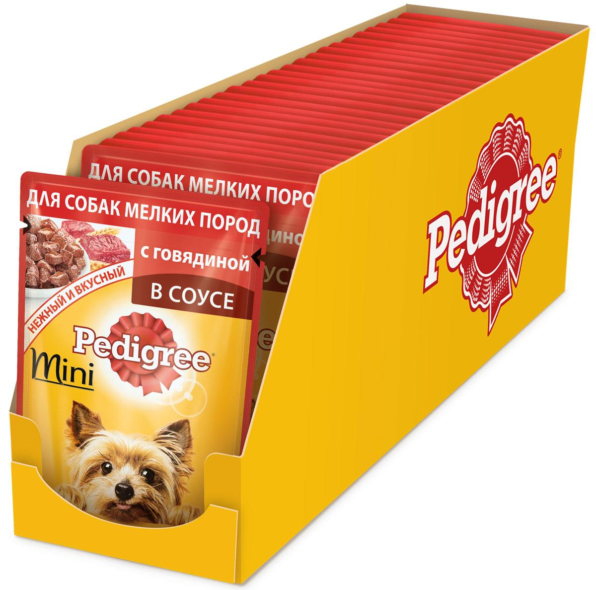 Консервы Pedigree, для взрослых собак мелких пород, с говядиной, 85 г х 24 шт42903