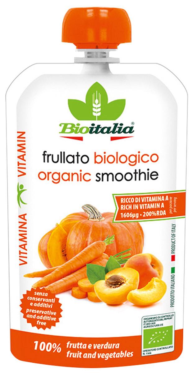 Bioitalia Пюре из моркови, абрикоса и тыквы смузи, 120 г1770259