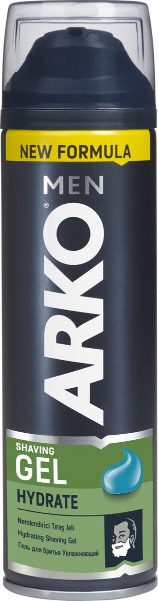 Arko Men Гель для бритья Hydrate 200мл80053505Гель для бритья обеспечивает легкое и комфортное бритье для любого типа кожи. Благодаря натуральным смягчающим компонентам крем оказывает увлажняющее и успокаивающее действие на кожу лица.