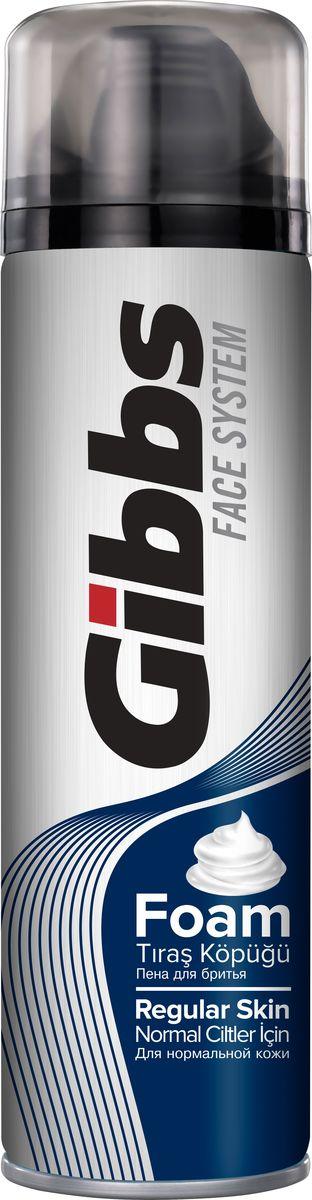 Gibbs Пена для бритья Regular 200мл80094005Пена для бритья Gibbs Regular Skin - современное, инновационное средство для бритья для нормальной кожи, содержит морские минералы.