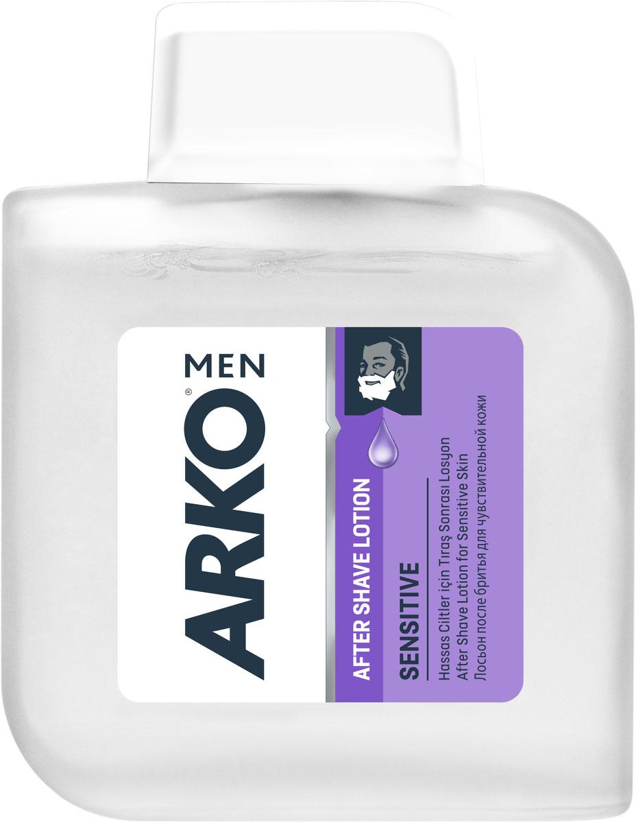 Arko Men AS Лосьон после бритья SENSITIVE 100мл800538511Лосьон после бритья предназначен для чувствительной кожи. Его натуральные компоненты деликатно снимут раздражение после процедуры бритья, а приятный аромат создаст отличное настроение.
