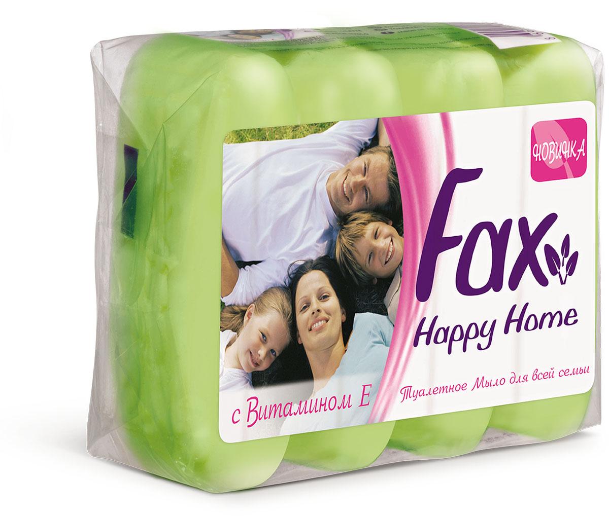 Fax Happyhome Мыло зеленое э/пак 4*70г
