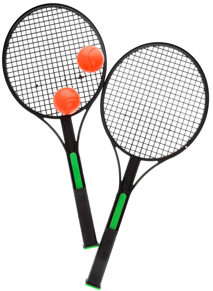 """Набор для игры в теннис """"King Sport"""", цвет: зеленый, черный, оранжевый, 4 предмета 28262450"""