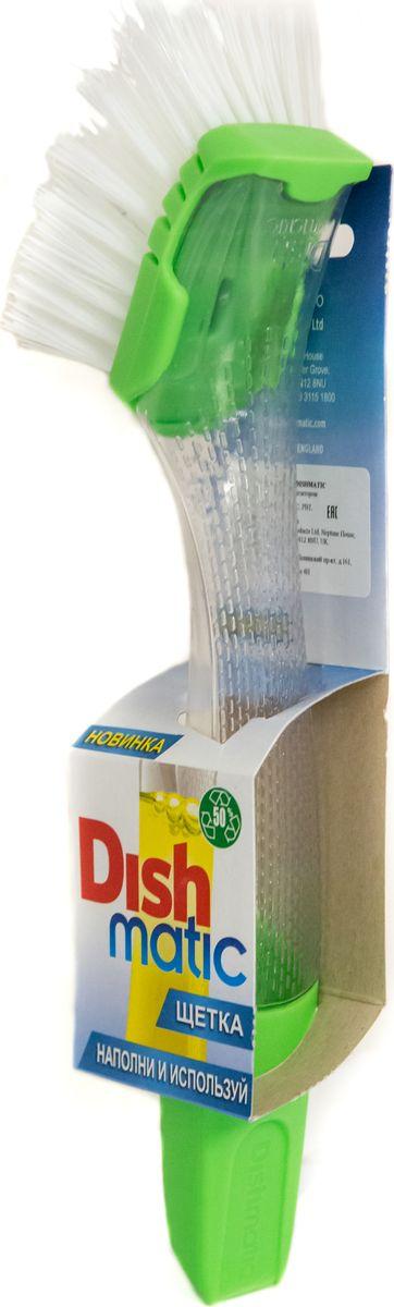 Щетка для посуды Dishmatic с дозатором116-01-4557/4782Dishmatic Щетка с дозатором! Идеально подходит для очистки загрязненных поверхностей. Использование Dishmatic надежно предохранит ваши руки от горячей мыльной воды, защитит ногти, снизит расход моющего средства и воды. Встроенная крышка легко открывается. Форма насадки разработана для максимально удобного доступа к любым уголкам посуды. Когда насадка износится, просто снимите и замените на новую.