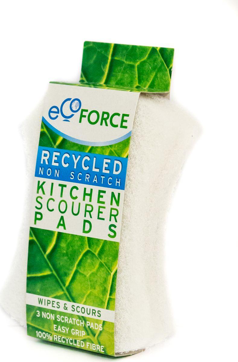 Кухонная губка EcoForce, для деликатных поверхностей, цвет: белый, 3 шт116-02-4093/4096Если применять для чистки посуды с деликатными поверхностями обычные жесткие кухонные губки, то это может привести к повреждению ее нежных поверхностей. Поэтому наилучшим выходом в такой ситуации будет использовать белые кухонные губки для деликатных поверхностей EcoForce, которые не только легко очистят посуду, но и при этом не повредят ее. Эти губки сделаны из материала, который устойчив к воздействию чистящих средств.