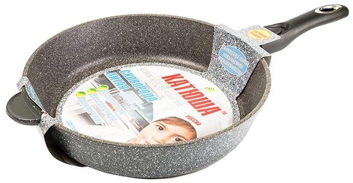 Сковорода Катюша Гранит, литая, с антипригарным покрытием, со съемной ручкой. Диаметр 24 см7024Сковорода а/п литая 24см. съем./руч.Толщина стенок-4мм, толщина дна-6мм
