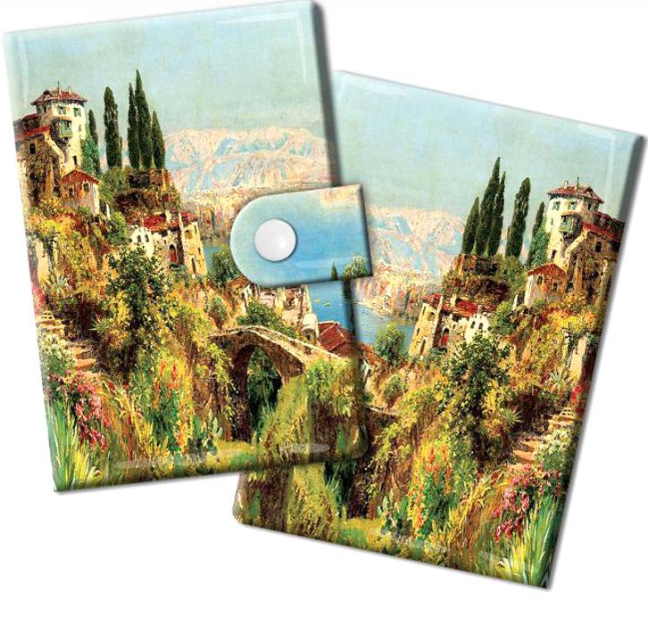 Визитница Magic Home Итальянский городок, цвет: зеленый, голубой. 4487544875Визитница Итальянский городок из ПВХ (10 карманов). Оригинальная визитница прекрасно подойдет для хранения визиток и кредитных карт. Стильная визитница подчеркнет вашу индивидуальность и изысканный вкус, а также станет замечательным подарком.