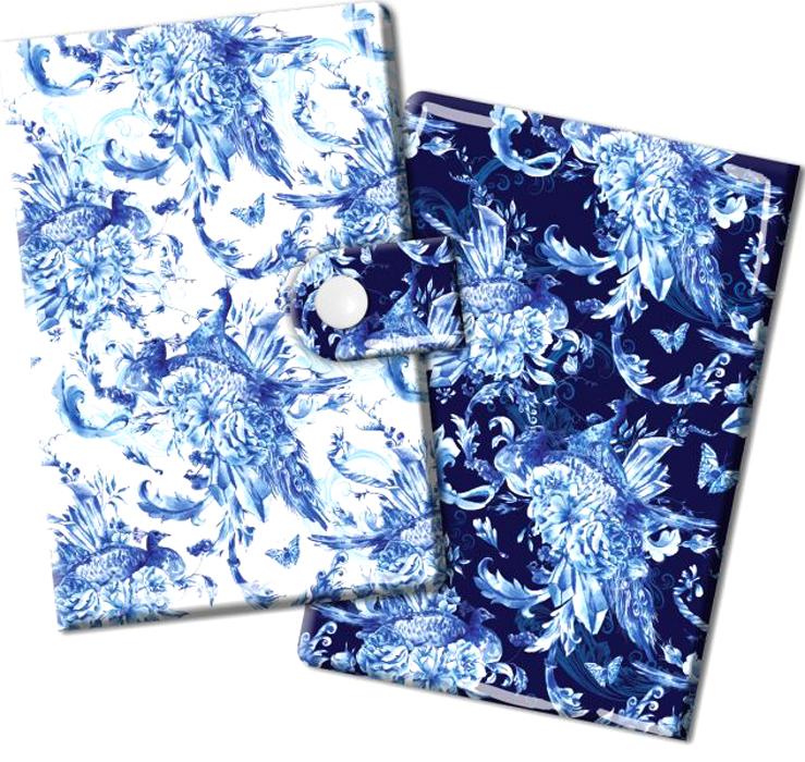 Визитница Magic Home Сказочные птицы, цвет: синий, белый. 4487444874Визитница Сказочные птицы из ПВХ (10 карманов). Оригинальная визитница прекрасно подойдет для хранения визиток и кредитных карт. Стильная визитница подчеркнет вашу индивидуальность и изысканный вкус, а также станет замечательным подарком.