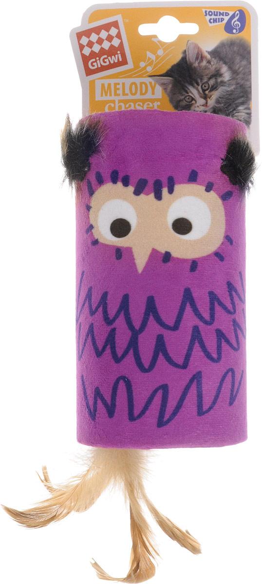 Игрушка для кошек GiGwi Сова-дразнилка, с хвостиком на резинке, со звуковым чипом, 15,5 х 8,5 см75355Игрушка для кошек GiGwi Сова-дразнилка имеет встроенный звуковой чип. Реалистический звук возникает при касании игрушки лапами, звук прерывается через несколько секунд. Игрушки этой серии предназначены для удовлетворения охотничьих инстинктов вашего питомца.