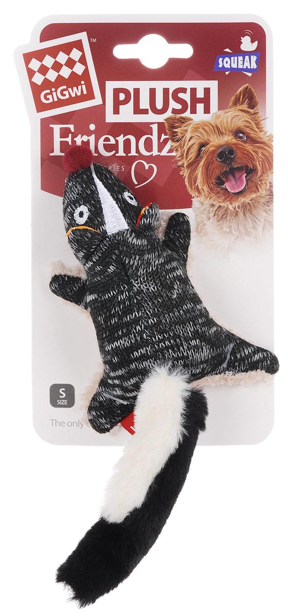 Игрушка для собак GiGwi Скунс, с пищалкой, длина 10,5 см75386Игрушка для собак GiGwi Скунс с набивкой выполнена из текстиля. Игрушка подходит для активной игры. Прочный, неабразивный, нетоксичный материал не ранит зубы. Игрушка оснащена пищалкой.