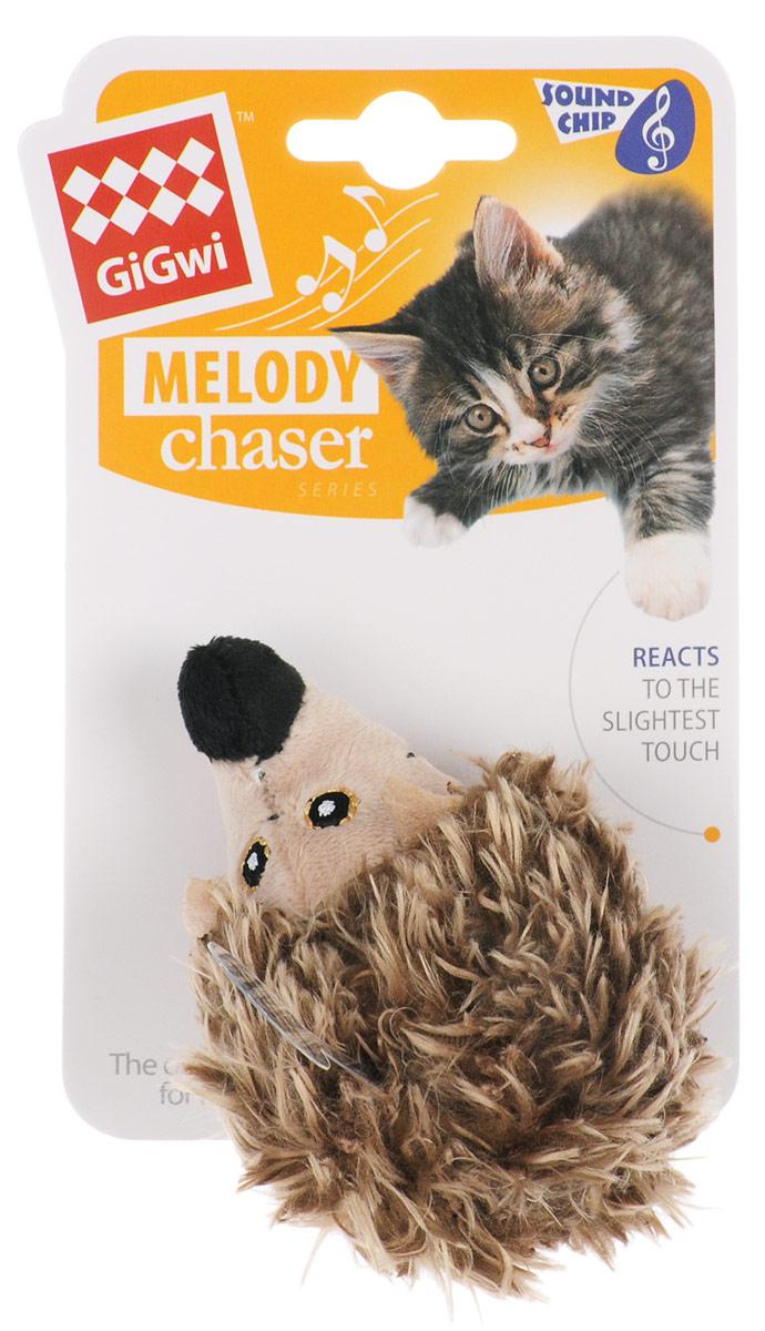 Игрушка для кошек GiGwi Ежик, с электронным чипом, длина 10 см. 7537675376Мягкая игрушка GiGwi Ежик изготовлена из текстиля. Играя с этой забавной игрушкой, маленькие котята развиваются физически, а взрослые кошки и коты поддерживают свой мышечный тонус. Изделие выполнено в виде ежика. Внутри игрушки расположен звуковой чип, срабатывающий при касании игрушки лапами кошки, реалистичный звук прерывается через несколько секунд. Такая игрушка точно заинтересует вашего питомца и не даст ему скучать. Размеры игрушки: 10 х 6,5 х 6,5 см.