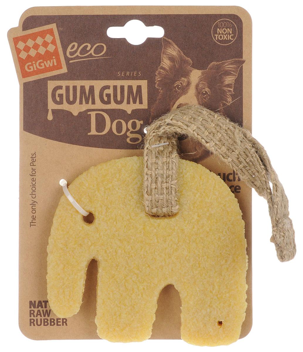 Игрушка для собак GiGwi Большой слон, длина 11 см75319Игрушка для собак GiGwi Большой слон выполнена из натуральных компонентов - 100% нетоксичного каучука и льняного жгута. Вдохновенные природой эти игрушки не вредят здоровью вашего питомца и его зубам, деснам, тем самым обеспечивая здоровую альтернативу для вашего друга.