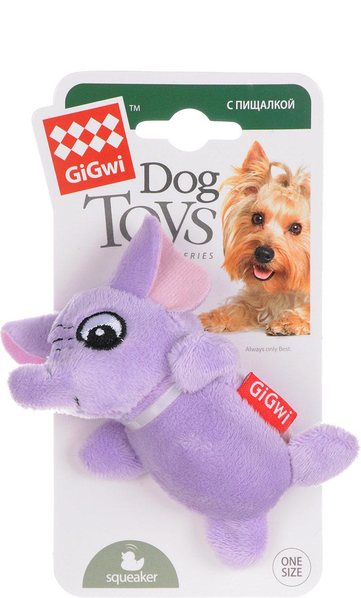 Игрушка для собак GiGwi Слон, с пищалками, длина 9 см75013Игрушка для собак GiGwi Слон выполнена из плотной резины. Игрушка подходит для активной игры и оснащена пищалкой.